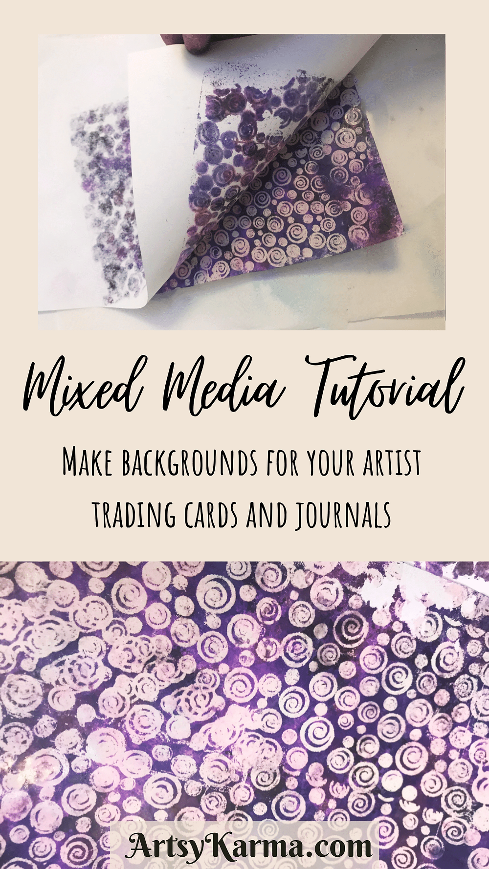 Mixed media tutorial for backgrounds