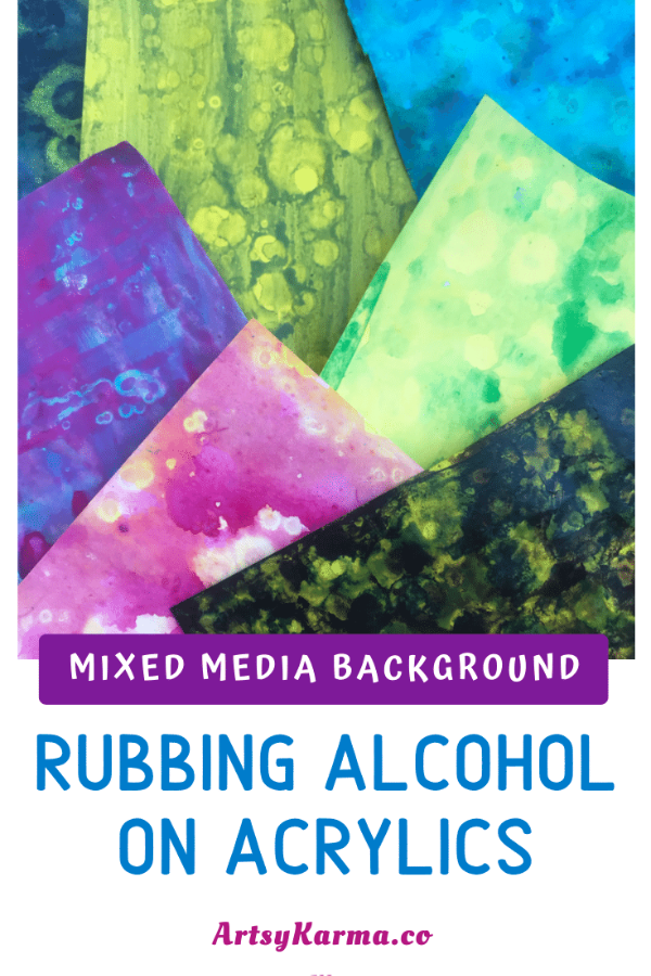 Rubbing alcohol on acrylics