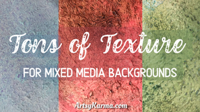 Textured Mixed Media Background Using a Scrub Brush