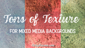 Textured Mixed Media Background Using a Scrub Brush