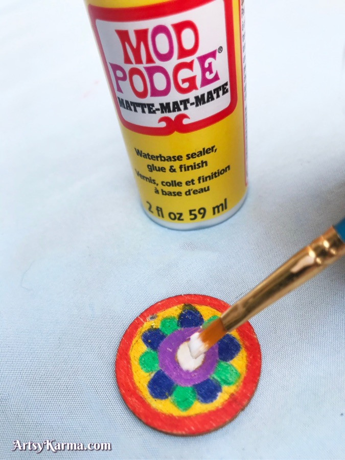 Add a touch of mod Podgorica to areas of your mandala where you need to add rhinestones