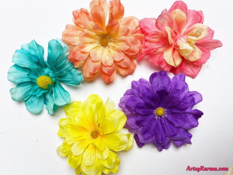 Creative ways to use artificial flowers