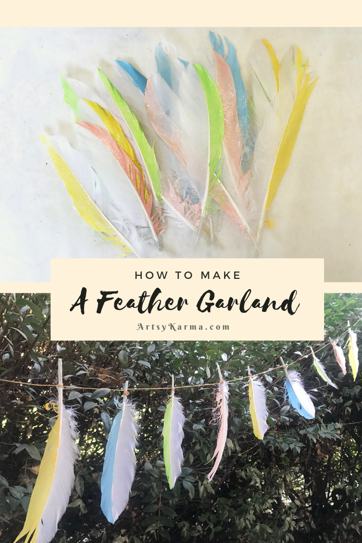 how to make a feather garland