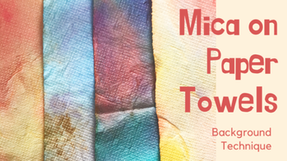 How to Paint With Mica Powder Background Technique