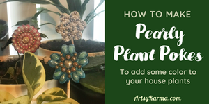 how to make pearly plant pokes