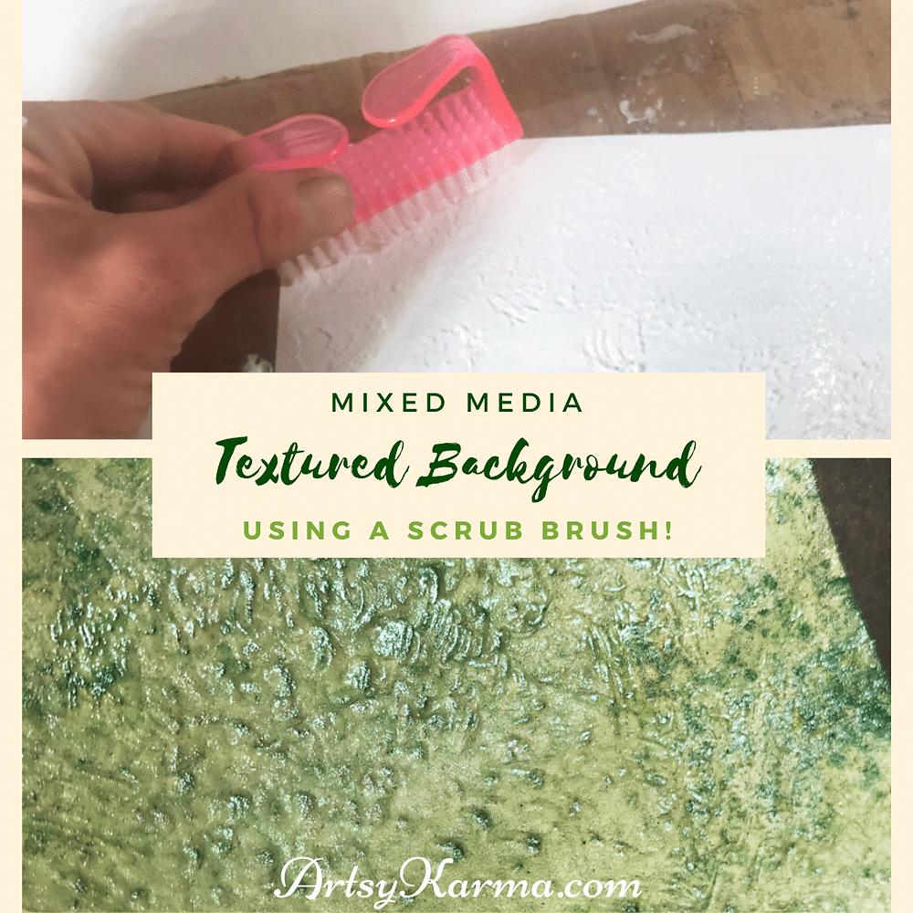 scrub brush texture background