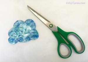 after shrinking a crystal rain cloud sun catcher