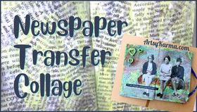 How to Make an Art Journal Background Using the Packing Tape Transfer Technique