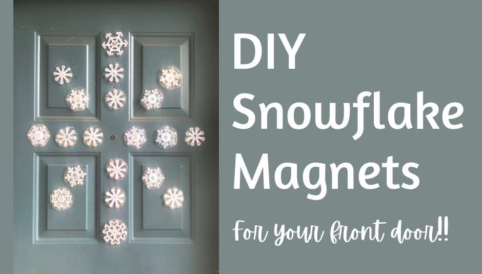 DIY snowflake magnets for your front door
