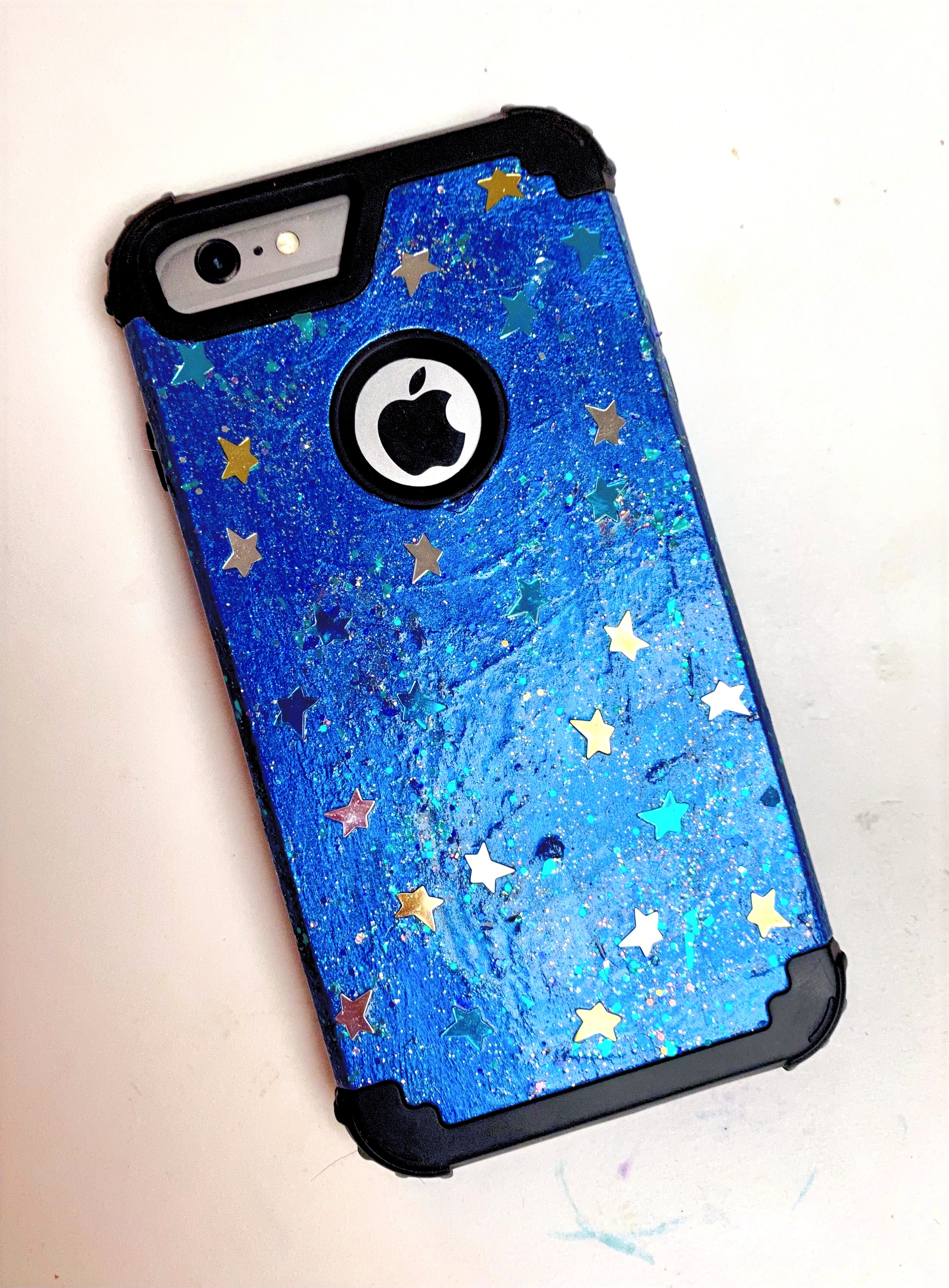 Mixed media cell phone case