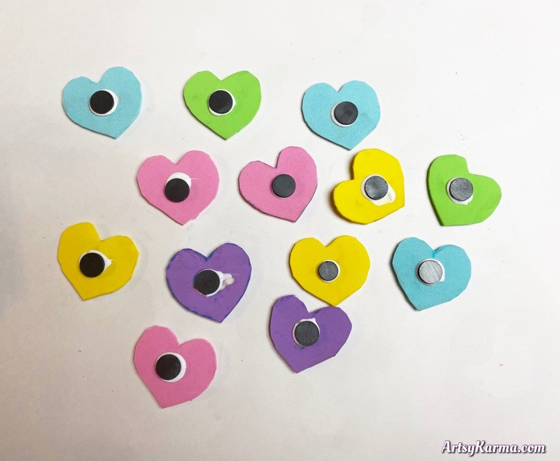 heart magnets for valentines day