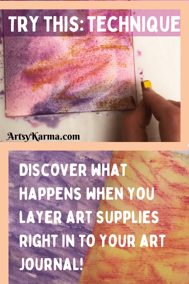 Try this mixed media background technique