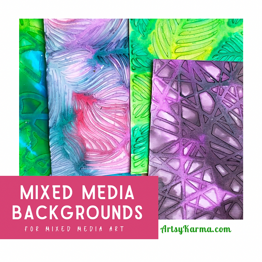 Mixed media backgrounds for mixed media art