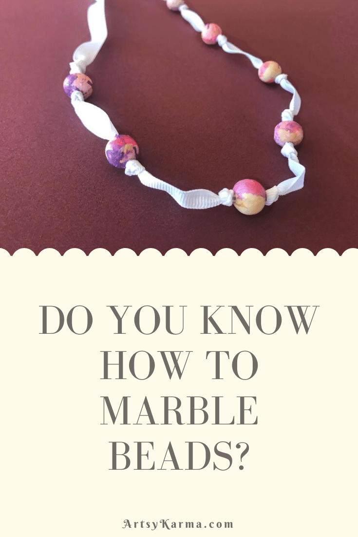 How to marble beads