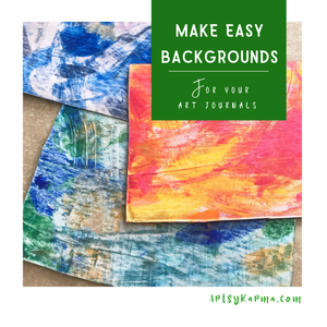 Painting with a credit card makes easy backgrounds