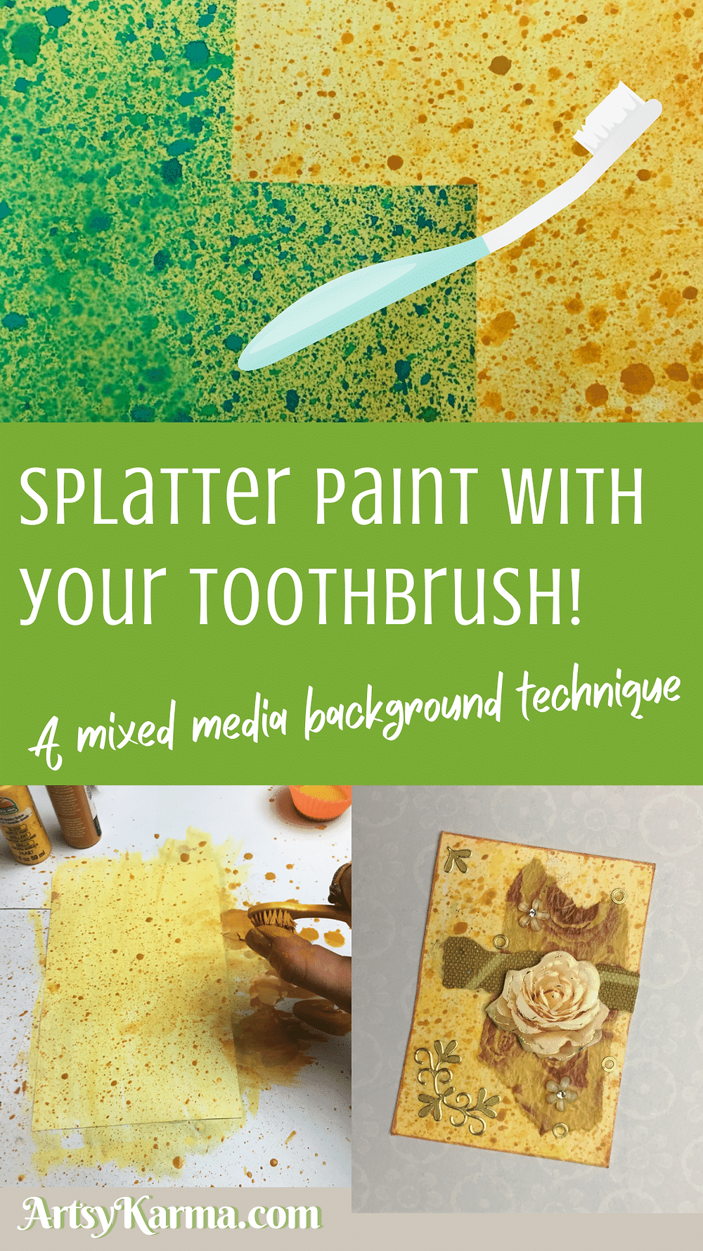 Splatter paint with your toothbrush tutorial