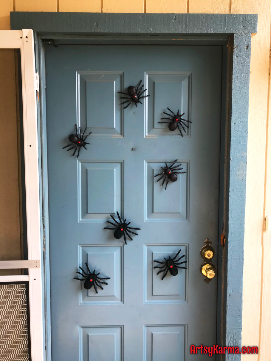 Create diy spider magnets for halloween