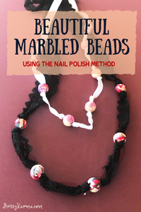 marbled beads using the nail polish method