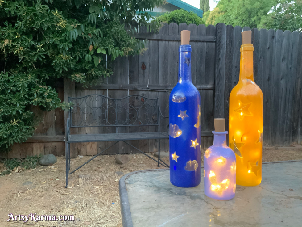 How to make wine bottle crafts with lights