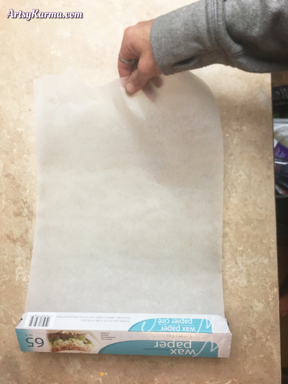 How to use wax paper for art