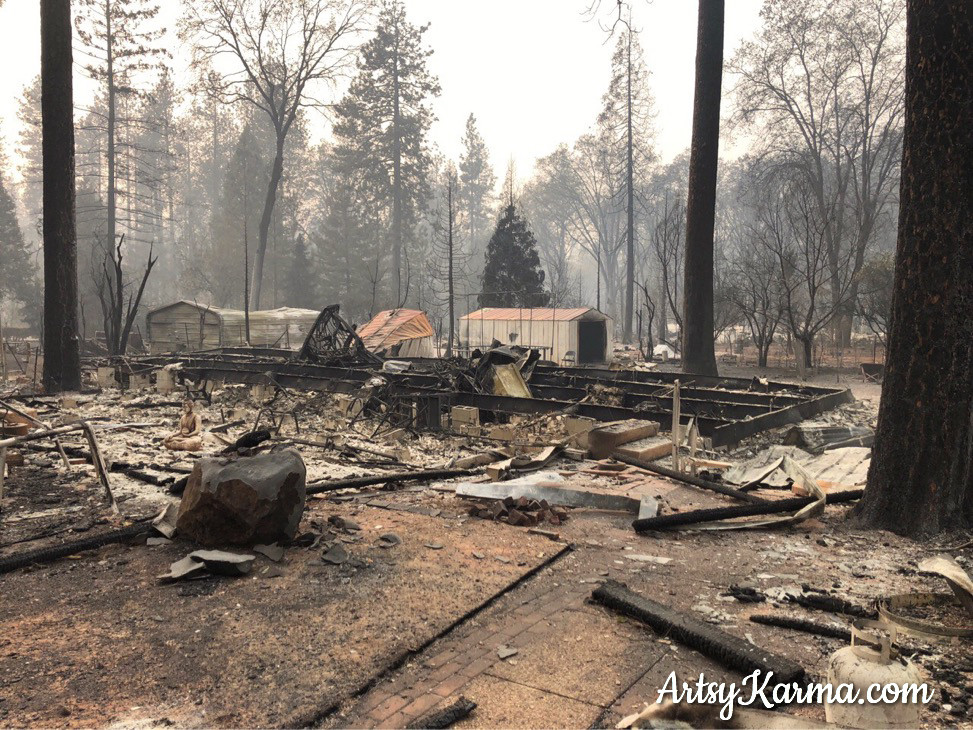 camp fire destroyed house