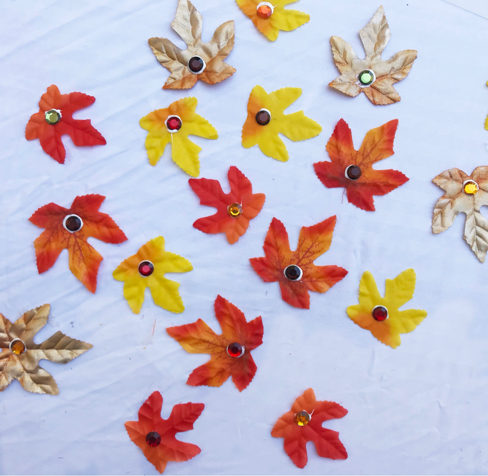Creating autumn leaves for your porch