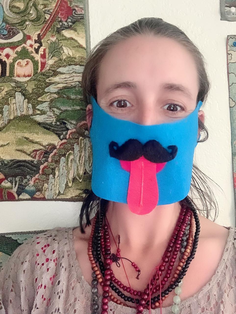 funny covid 19 mask