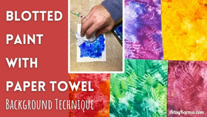 Make Artist Trading Card Backgrounds With Gouache