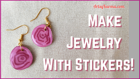 DIY Earrings Made Out of Stickers!