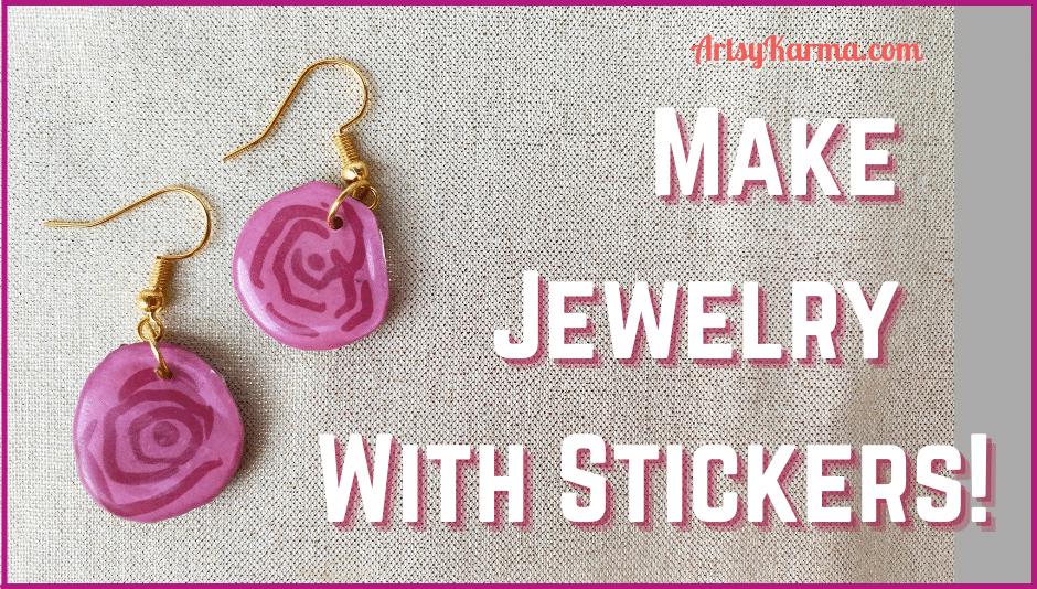 Make jewelry with stickers.
