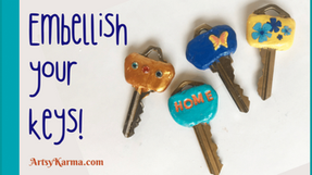 How to Make Embellished Clay Key Covers