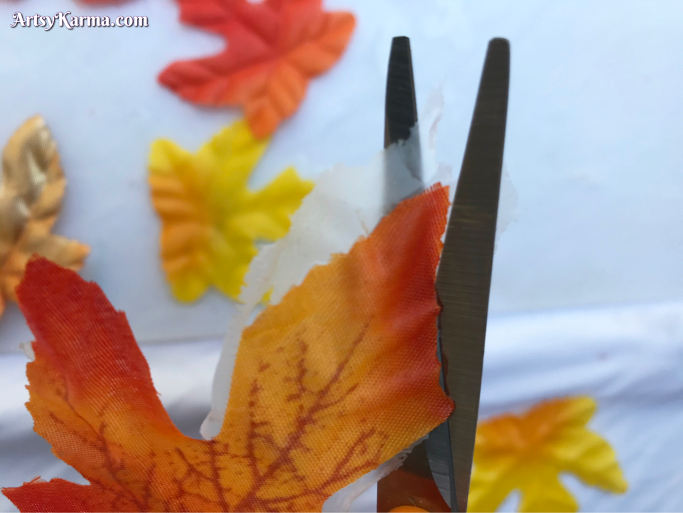 Making leaves for fall decor