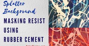 Resist Background Using Rubber Cement