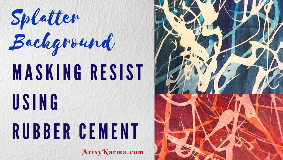 masking resist using using rubber cement