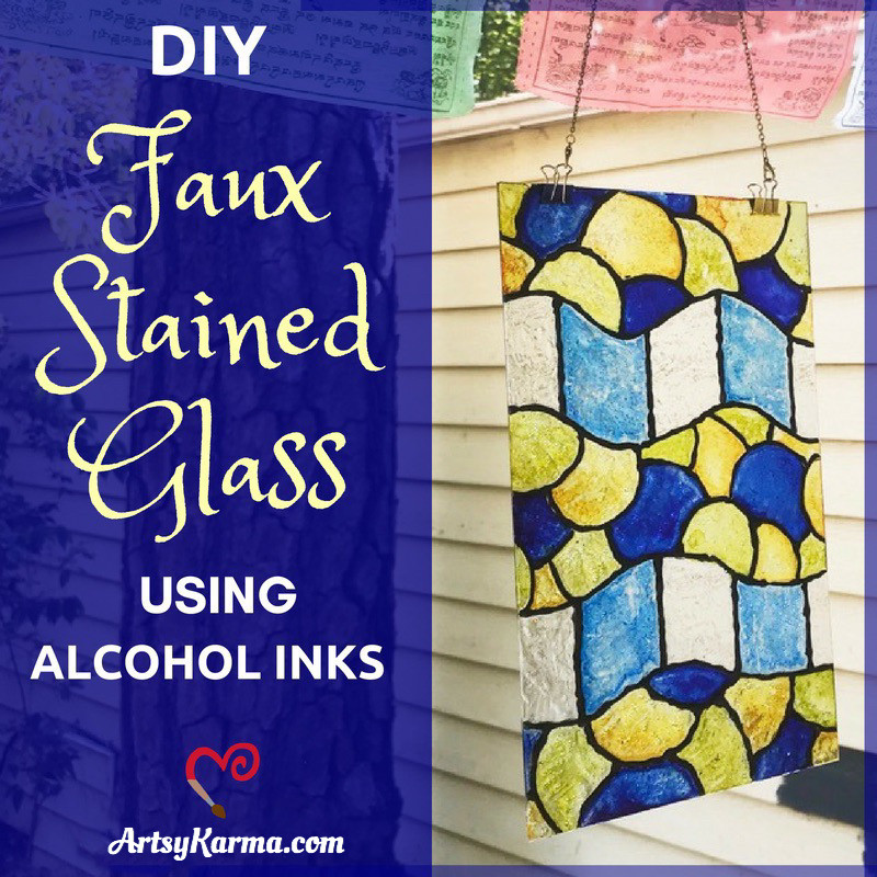 make your own faux stained glass