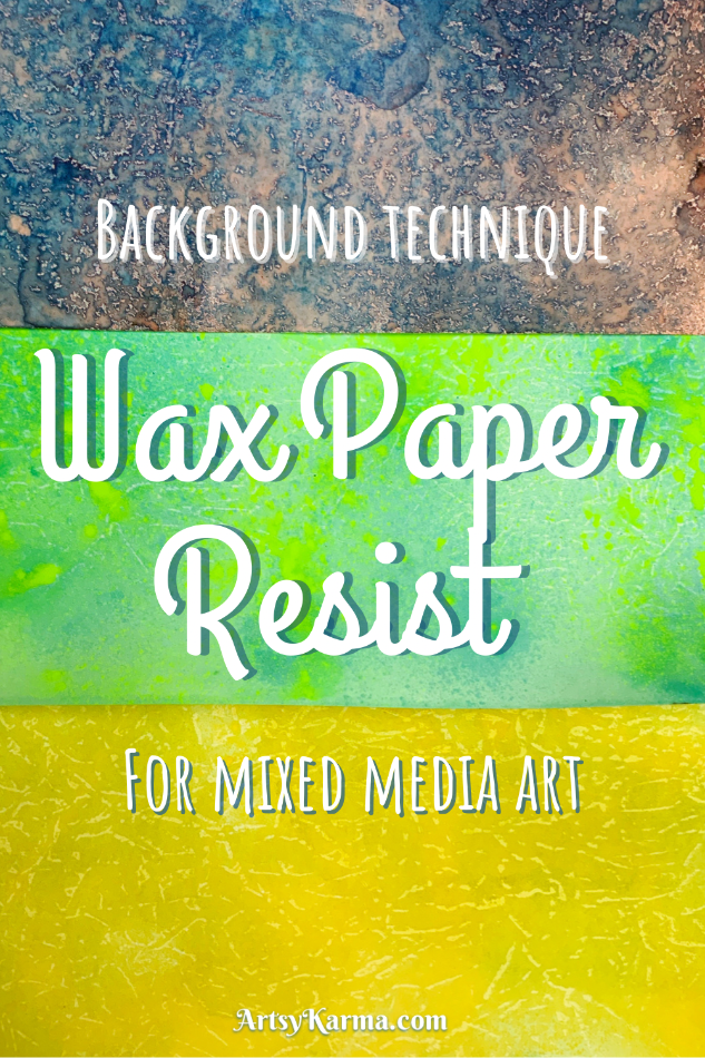 background technique using wax paper resist.