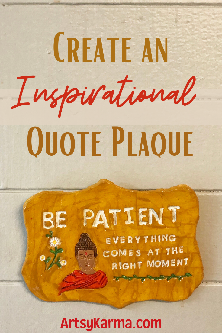 create an inspirational quote plaque