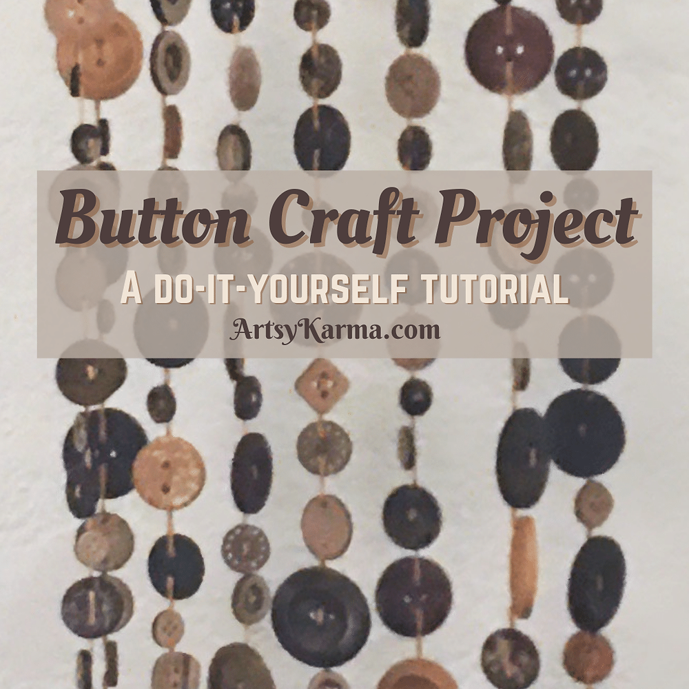 Make a button craft project