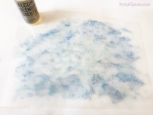 blending solution for a crystal rain cloud sun catcher