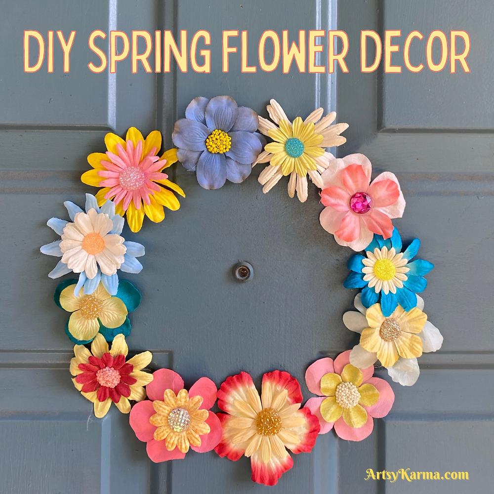 DIY spring flower decor