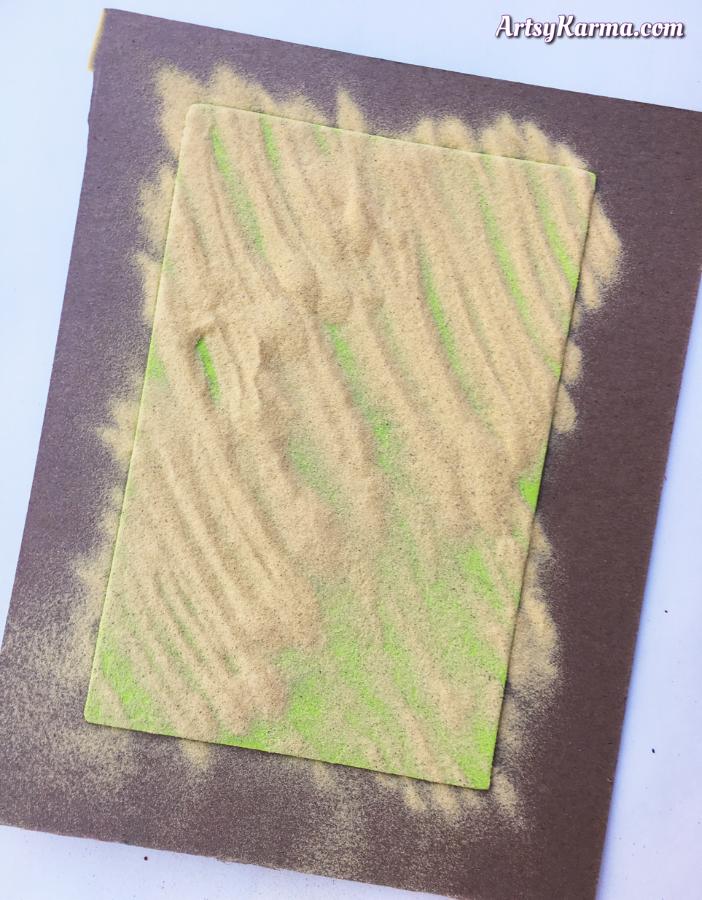 Embossing powder on craft foam diy