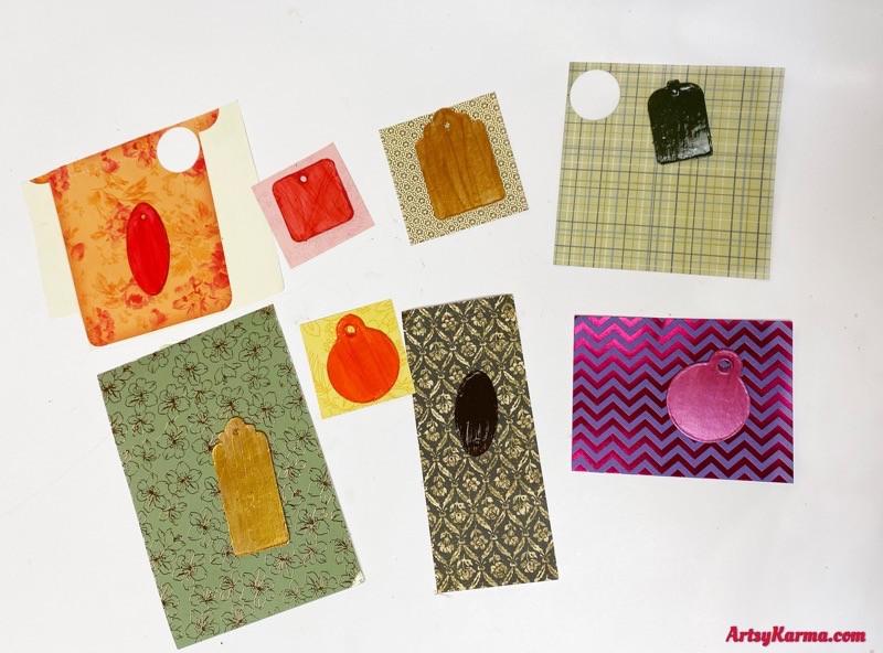 Making scrapbook paper pendants