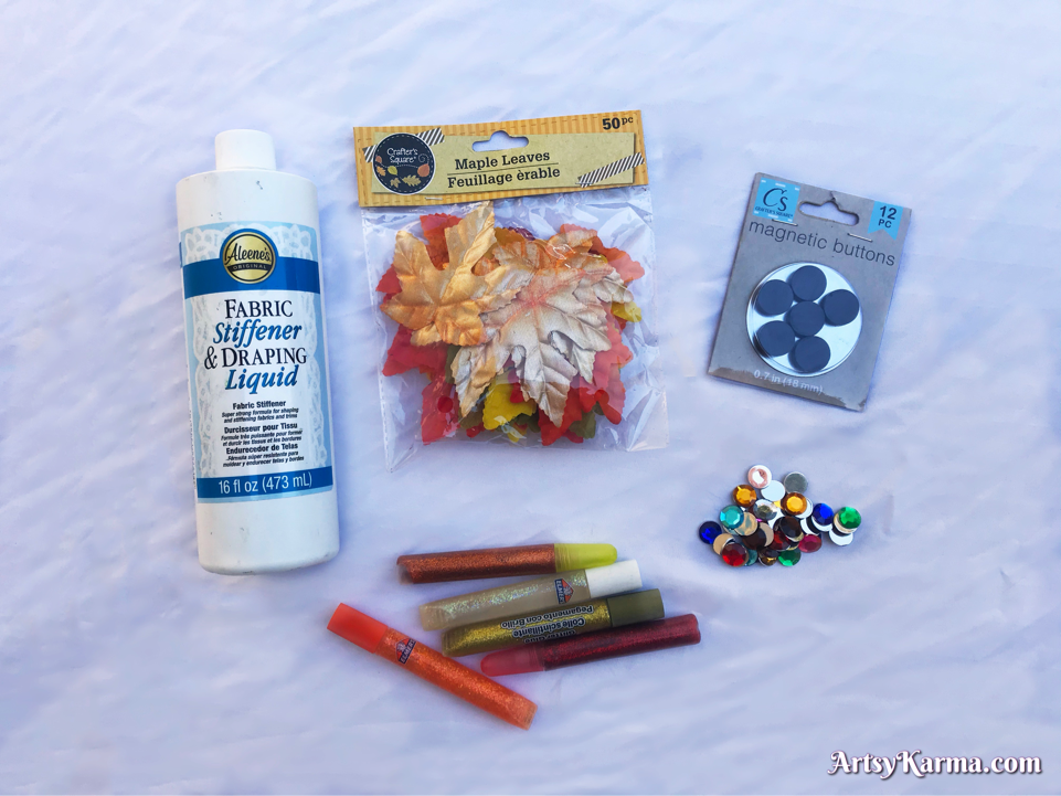 Supplies for your diy leaf decor