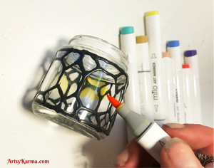 How to decorate small glass jars