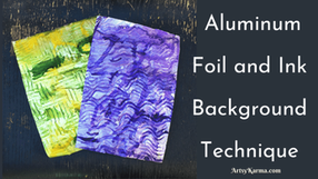 Aluminum Foil Impressions Background Technique