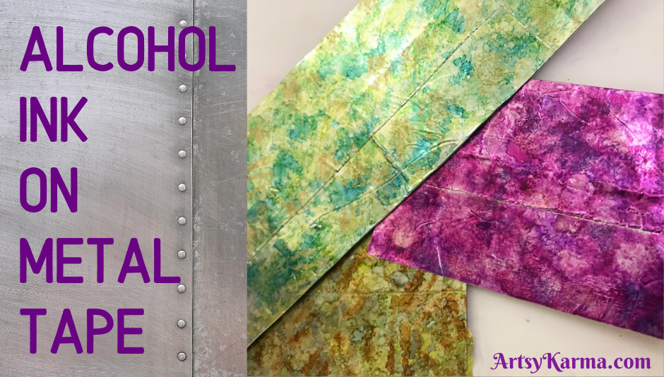 Using alcohol inks for backgrounds