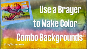 Make Color-Combo Backgrounds with a Brayer