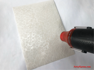 Embossing with alcohol ink