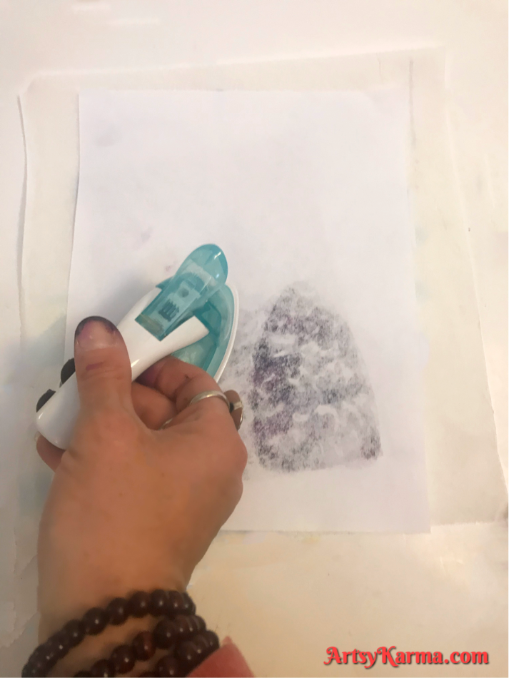 Embossed backgrounds with alcohol ink