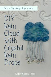 crystal rain cloud sun catcher